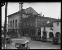 Masonic Temple and other buildings on the first block of East Carrillo Street, Santa Barbara, [1926-1929?]
