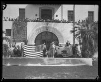 James A. Wilson and others at the dedication ceremony of the Santa Barbara County Courthouse, Santa Barbara, 1929