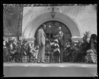 James A. Wilson at the dedication ceremony of the Santa Barbara County Courthouse, Santa Barbara, 1929