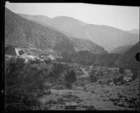Gold mining camp, San Gabriel Canyon, 1932