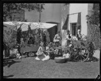 Produce display at the Old Spanish Days Fiesta, Santa Barbara, 1932