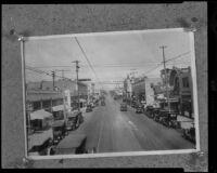 Bird's-eye view of Santa Monica Boulevard, Santa Monica, [1921], rephotographed [1930s?]