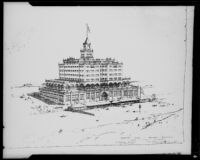 Architectural drawing, Breakers Beach Club, Santa Monica, 1925