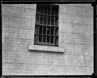 Broken window, Ventura School for Girls, Ventura, 1921
