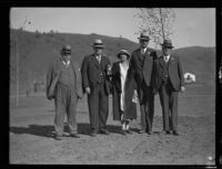 Officials at the dedication of the California Institution for Women, Tehachapi, 1932