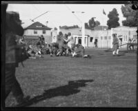 Football game, University of Southern California, Los Angeles, 1925