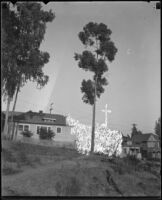 Houses on hillside, Topanga Canyon, [1920s or 1930s?]