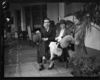 Actress Mary Hay and husband Vivian C. Bath, Beverly Hills Hotel, Beverly Hills, 1927