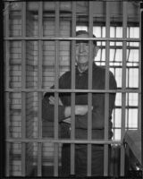Chief Luther Standing Bear in jail, 1935