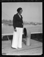 Mary Barbara Cecilia Antonio Bagot aboard the Santa Teresa, Los Angeles, 1933
