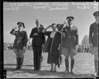 Participants at military ball, University of California, Los Angeles, 1933
