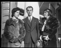 Gloria Baker, Alfred Gwynne Vanderbilt, and Margaret Emerson, [1937?]