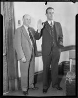 Judge Harry Archbald and son attorney Malcolm Archbald, 1932