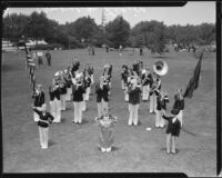 American Legion Band at band competition or review, [1930s?]