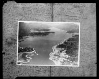 Aerial view of Big Bear Lake, [1920s or 1930s?], rephotographed [1935?]
