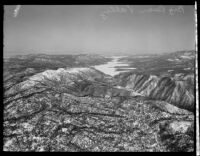Aerial view of Big Bear Valley and Big Bear Lake, [1935?]