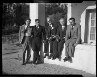 California Writers' Guild meeting participants, Occidental College, Los Angeles, 1932