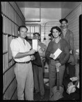 Prisoners awaiting release, Los Angeles, 1932