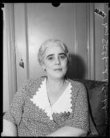 American Legion Auxiliary President Mrs. S. Alford Blackburn, 1933