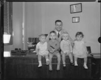 Juvenile Court judge Samuel R. Blake and four children, [Los Angeles?], 1932