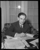 Magazine editor Sumner Blossom, Los Angeles, 1932