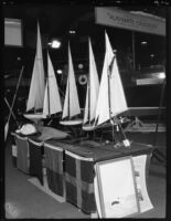 Model sailboats at the Los Angeles Boat Show, Los Angeles, 1930