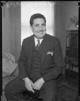 Rafael Belaúnde, Peruvian Ambassador to Mexico, during a visit to Los Angeles, 1935