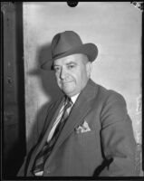 Clarence L. Belt, attorney accused of stealing securities and the title to the American Bank Building, Los Angeles, 1933