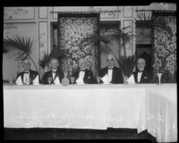 Notable guests at the annual Chamber of Commerce banquet at the Ambassador Hotel, Los Angeles, 1926