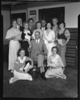 Eleven child actors receive approved contracts from Judge Marshall F. McComb, Los Angeles, 1933