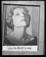 Lolita Bertling is to perform at the Philharmonic, Los Angeles, 1933