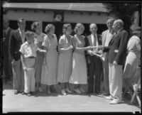 First graduating class of Milton H. Berry Institute of Paralysis Correction, Encino, ca. 1934
