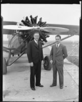 Richard Barnitz and Woodruff De Silva program Los Angeles Municipal Airport dedication event, Los Angeles, 1930