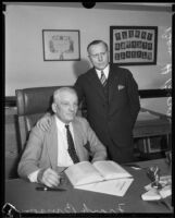 Frank Bryson, Public Administrator of Los Angeles County and Ben H. Brown, senior investigator, Los Angeles, 1934