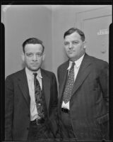 Counterfeiter suspects Michael Buckley and James O'Keefe, Los Angeles, ca. 1935