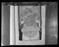 A drawing of Bogdo Khan Panchen Lama Hutuktu Gehen, the Living Buddha of Mongolia, Ulaanbaatar, 1935
