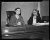 Judge Georgia Bullock and Judge Reah Whitehead, Los Angeles, ca. 1924
