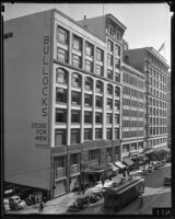 Bullocks store for men, Los Angeles, between 1934-1939
