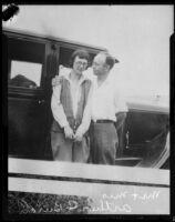 Newlyweds Irene and Arthur C. Burch, Pasadena, 1926