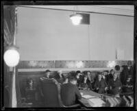Jury for Arthur C. Burch murder trial, Los Angeles, 1922