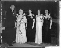 Konrad Burchardi, Leafie Sloan-Orcutt, Elizabeth Von KleinSmid, and Elizabeth Schleicher, Los Angeles, 193