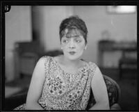 Irene Bordoni, French actress and singer, circa 1927