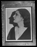 Portrait of Claire Borin [rephotographed], Hollywood, copy print 1935