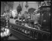 Bishop Cantwell and others attend Mass in memory of St. John Bosco, St. Patrick Catholic Church, Los Angeles, 1935