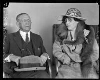 W. H. Bowers and Olive Orr Brugen-Schmidt Bowers during poison plot trial, Los Angeles, 1926