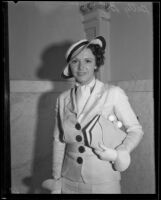 Actress Betty Boyd at the time she dropped her suit over a divorce decree, Los Angeles, 1934