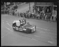 Grauman's float in the Loyalty Day Parade inaugurating Boys' Week, Los Angeles, 1926