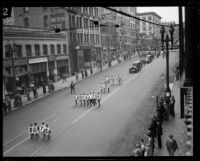 Start of the Loyalty Day Parade inaugurating Boys' Week, Los Angeles, 1926