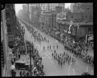 Column of Boys in the Loyalty Day Parade inaugurating Boys' Week, Los Angeles, 1926
