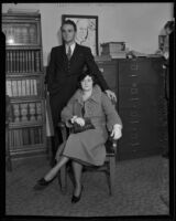 Richard Carrington and his mother Mrs. Nell Carrington, Los Angeles, 1934